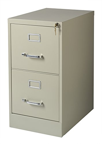 Office Dimensions Commercial 2 Drawer Letter Width Vertical File, 22-Inch Deep, Putty