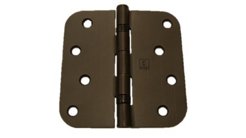 (Pack of 2) 4 inch Oil Rubbed Bronze Ball Bearing Door Hinges with 5/8