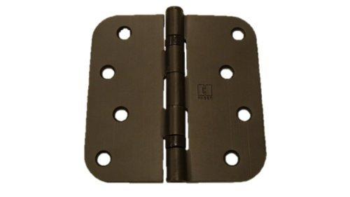 Ball Bearing Door Hinges - (Pack of 2) 4 inch Oil Rubbed Bronze Ball Bearing Door Hinges with 5/8