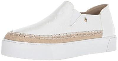 A|X Armani Exchange Women's Snakeskin Textured Slip On Platform Sneaker