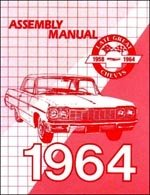 - 1964 Chevrolet Assembly Manual - Impala Biscayne Bel Air Chevy 64 (with Decal)