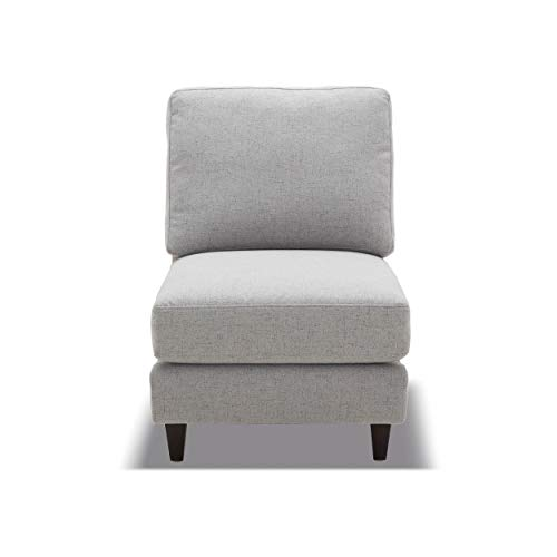 CHITA Sofa and Loveseat, Modern Fabric Modular Couch for Living Room, Grey -【Armless Seat ONLY】