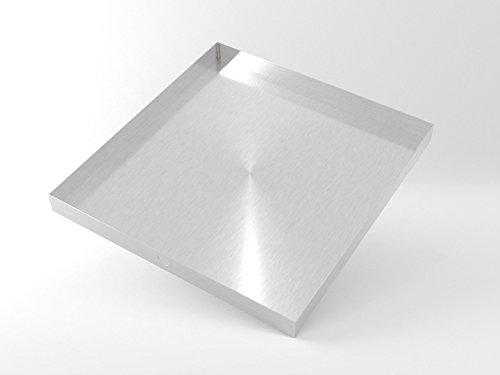 32'' x 30'' 2.5'' Heavy Duty Washer Machine Drain Pan, Stainless Steel Fine (With Hole) by DR Quality Parts (Image #1)