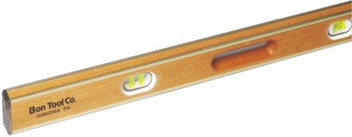 Bon 11-426 42-Inch Mahogany Brass Bound level Hand Holes, Yellow (Brass Bound Level)