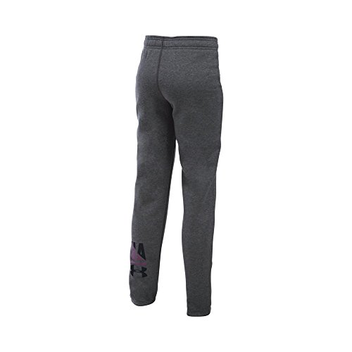Under Armour Girls' Favorite Fleece Jogger - Youth X-Small - Carbon Heather/Black