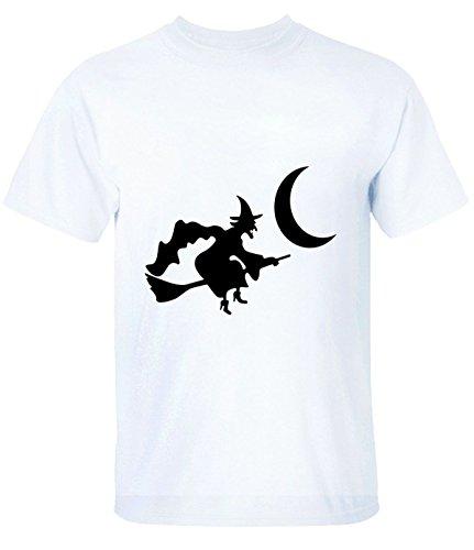 Break Time men's Halloween is the Moon particular tee white (Drunk 1 Costume Tshirt)
