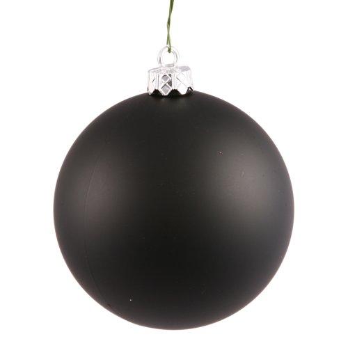 Vickerman Drilled UV Matte Ball Ornaments, 2.75-Inch, Black, 12-Pack by Vickerman