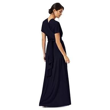 Debenhams Womens Navy Blue Multiway Full Length Evening Dress: Debut: Amazon.co.uk: Clothing