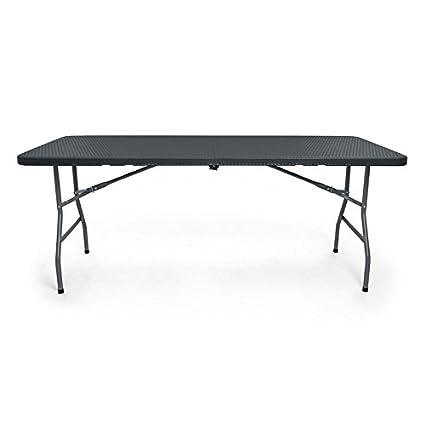 COMFOLD Resin Multipurpose Rectangle Table, 6 Feet, Center Folding