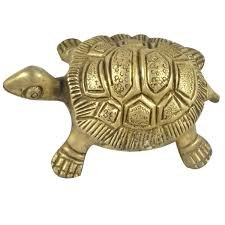 Maa Padma Farms Metal/Brass Made Tortoise for Good Luck, Success and Prosperity- Feng Shui Tips - The Himalayan Collections (2 x 2 Inch)