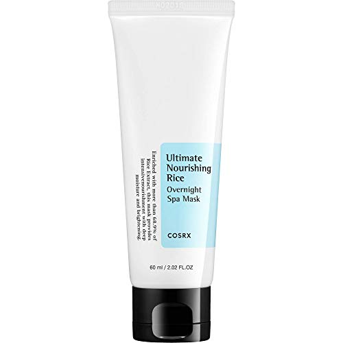 COSRX Ultimate Nourishing Rice Overnight Spa Mask, 60ml / 2.02 fl.oz | Rice Extract 68% | Korean Skin Care, Vegan, Cruelty Free, Paraben Free