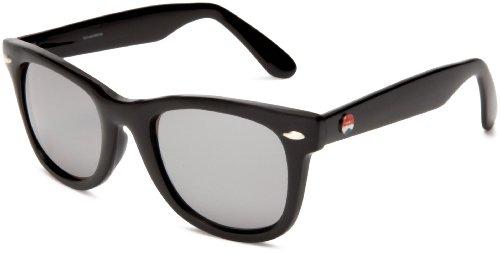 I SKI Silvermine Sunglasses,Black & Silver Frame/Smoke & Silver Lens,One - I Sunglasses Ski