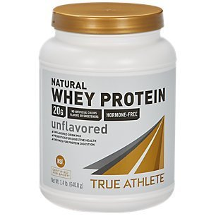 True Athlete Natural Whey Protein Unflavored, 20g of Protein per Serving Probiotics for Digestive Health, Enzymes for Protein Digestion NSF Certified for Sport (1.4 Pound Powder) (Best Protein For Athletes)
