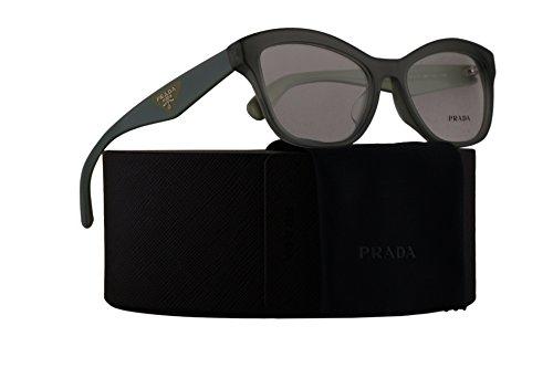 Prada PR29RVF Eyeglasses 54-17-140 Opal Dark Green w/Demo Clear Lens UEI1O1 VPR29RF VPR 29RF PR - Sale Eyeglasses Prada