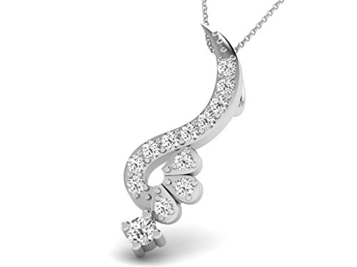 Or Blanc 18 ct Pendentifs Diamant , 0.08 Ct Diamant, GH-SI, 0.41 grammes.