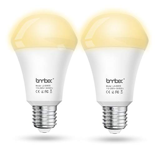 G'SOUL Smart LED Light Bulb WiFi Bulb Google Home Dimmable Soft White(2700k) E27 Light Bulb No Hub Required No Hub Required Compatible with Alexa Google Home and IFTTT(2 Pack)