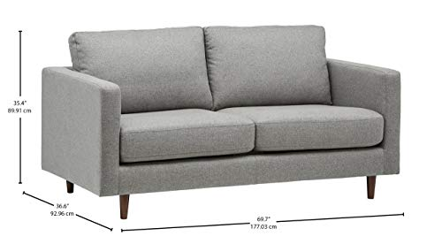 Rivet Revolve Modern Sofa Bed, 70″W, Grey Weave - 4