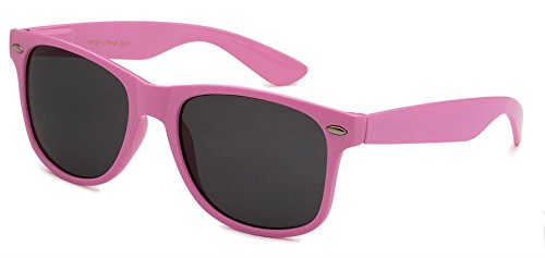 Sunglasses Classic 80's Vintage Style Design (Light (Pink Sunglasses)