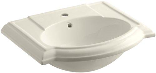 KOHLER K-2287-1-47 Devonshire Bathroom Sink Basin with Single-Hole Faucet Drilling, Almond (47 Devonshire Basin Lavatory)