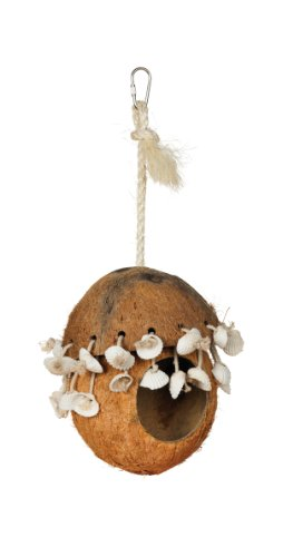 Prevue Hendryx 62802 Naturals Coco Hideaway with Shells Bird Toy by Prevue Hendryx