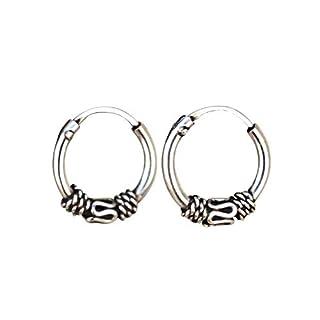 Pair of 10mm Sterling Silver Hoop Earrings, Handmade Hoop Earrings for Women, bali hoop earrings sterling silver, Sterling Silver Hoops