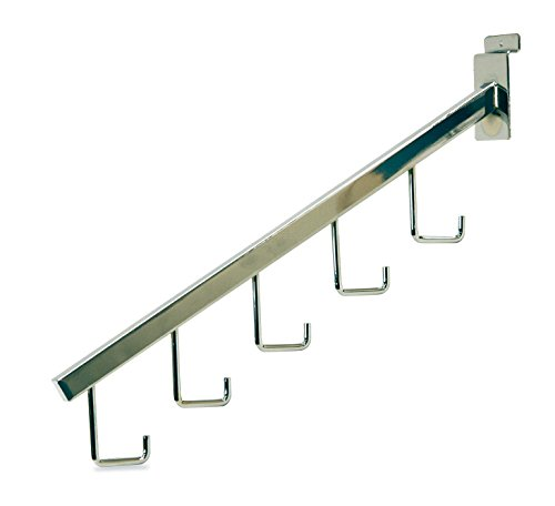 Set of 100 New or Retail Chrome 5 Hook Waterfall Bracket 12 inch