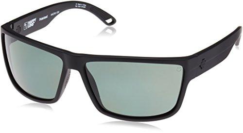 Spy Optic Rocky Flat Sunglasses, Matte Black/Happy Gray/Green Polar, 64 mm by Spy