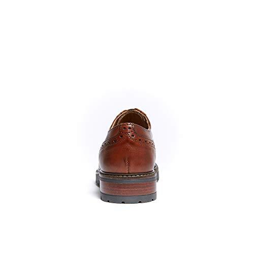 Marrone Stringata Decorazione Con Di Derby Brown Scarpa Donna Cap Colore Wing A4w18xqd