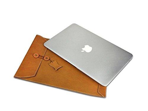 Yunqir Multi-functional 15.4 Inch Unisex PU Leather Tablet Laptop Bag Handbag Computer Inner Bag Envelope Bag