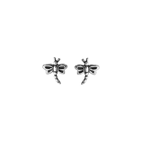 Boma Jewelry Sterling Silver Dragonfly Stud Earrings
