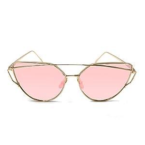 Wowanoo Fashion Protection Wayfarer Ultralight Metal Frame Sunglasses Baby Pink