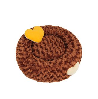Donut Bed Luxury Dog (Luxury Donut Beds Dogs Cats Any Pet Soft Warm Cozy Mat Couch Cushion Nest (Med, Brown))