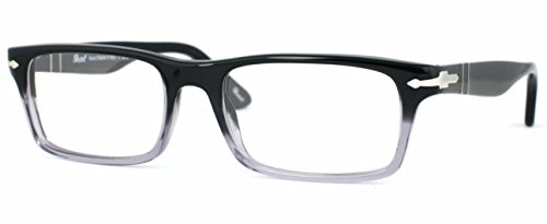 Persol PO3050V Eyeglasses (Black Frame with Clear Fade, 53 mm)
