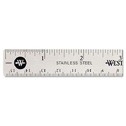 Stainless Steel Office Ruler With Non Slip Cork Base, 6, Sold as 2 Each
