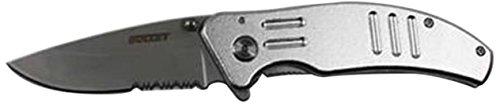 PK-045-12 4.5'' Metal Handle Pocket Knife 12Pcs/Display Box 6Pcs/black & 6Pcs/Silver with Belt Clip by Rex (Image #1)