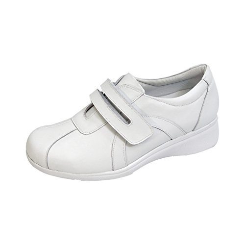 24 Hour Comfort  Bonnie (1062) Women Extra Wide Width Walking Shoes White 8.5 by 24 Hour Comfort