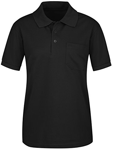 EZEN Women's Comfort Casual 2-Button Pcoket Short Sleeve PK Polo Shirts