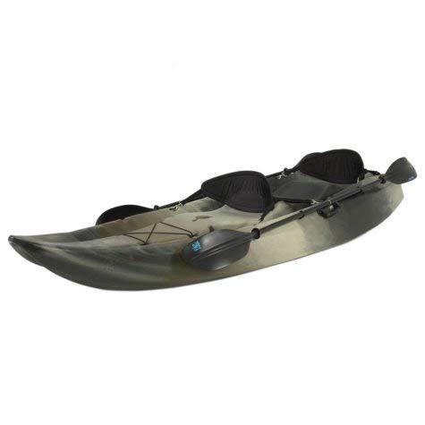 Lifetime 10' Tandem Fishing Kayak w/ Paddles & Backrests - Camouflage