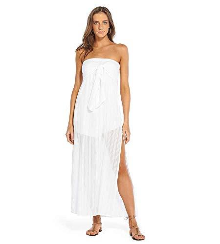 ViX Paula Hermanny VIX Women's Solid Tess Strapless Dress White