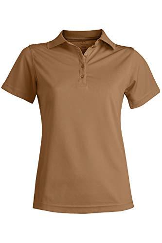 (Edwards Ladies' HI-Performance MESH Short Sleeve Polo 2XL TAN)