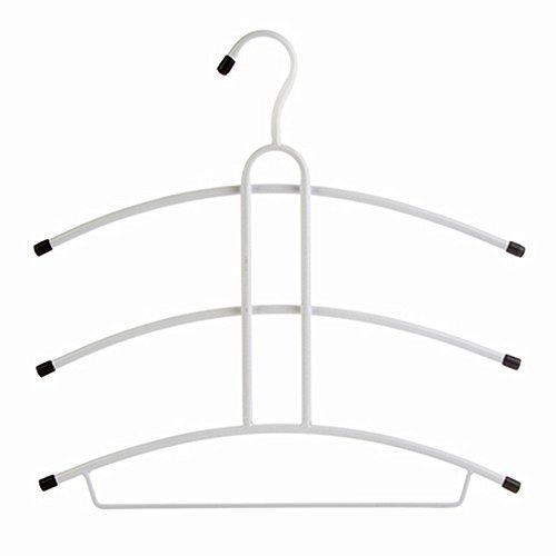 Huayoung Magical Clothes Hanger Multifunctional Clothes Hangers Non-slip Suit Clothes Hangers Pack of 2 (B, White)