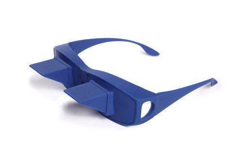 Stylish Modern Lazy Glasses Universal Healthcare Bed Prism Spectacles Prism Glasses Myopia Presbyopia Prism Eye Glasses Periscope Lie Down Watch Read Tv Down Periscope Glasses (Blue)