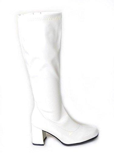 Ligne Ltd Boutiques Go Taille Rétro nbsp;et Haute Déguisement Genou nbsp;de En Pour Monde Femme 70 Bottes Des Années 3 60 Mode Uk 4Igxtq