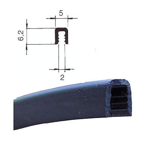 2214 negro 3/m Protector de bordes Blanco refuerzo con protecci/ón dimensi/ón del hueco 2,0/mm EUTRAS Kantenschutz KSO4006