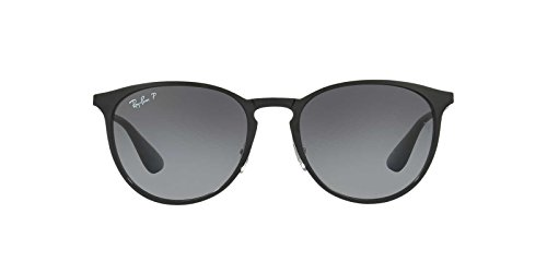 Ray-Ban Womens Erika Metal Sunglasses (RB3539) Black/Grey Metal - Polarized - 54mm