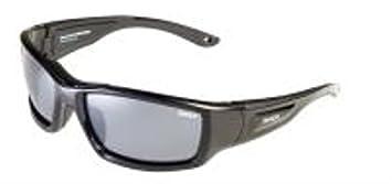 Sinner indianhead Tiras flotante gafas de Sol Negro / Sintec Polarizado Humo Flash Lente Espejo