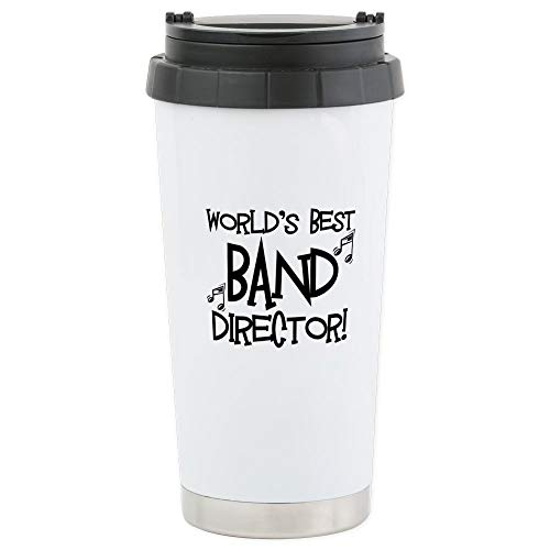 CafePress Worlds Best Band Director Travel Mug Stainless Steel Travel Mug, Insulated 16 oz. Coffee - Best Music Worlds Director