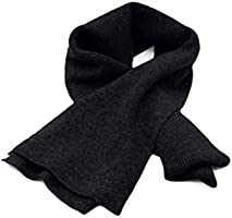 """Cashmeren Unisex Ultra Soft Ribbed Scarf 100% Pure Cashmere • Solid Color • Extended Length 70""""x 7"""""""