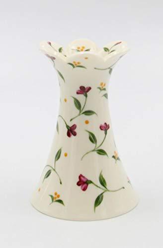 (Cosmos Gifts Fine Elegant Jade Porcelain Red Flowers Design Taper Candle Holder, 4-1/2