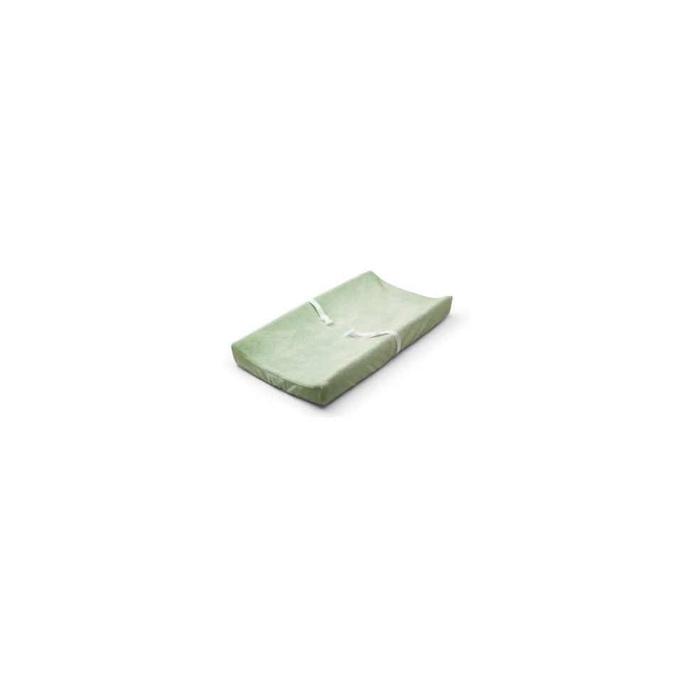 Plush Changing Pad Cover   Polka Dot Green